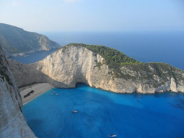 Zakynthos Utazás-Navaggio-öböl fentről