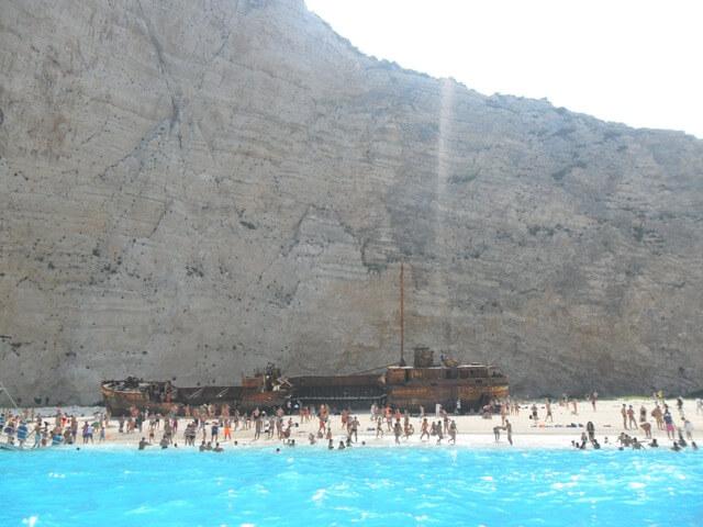 Zakynthos Navaggio-öböl hajóval