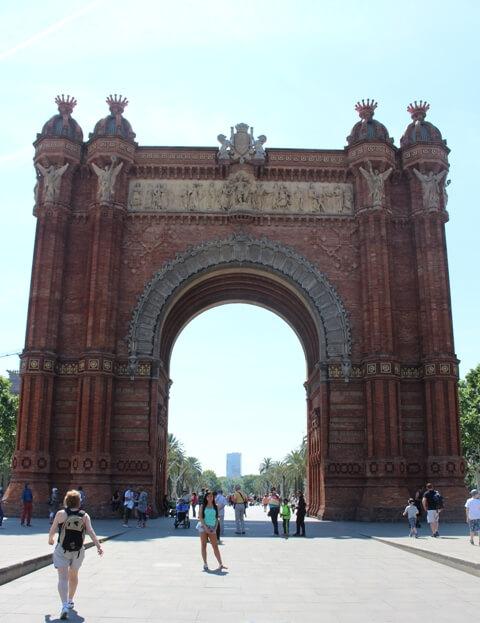 Barcelona Látnivalók-Arc de Triomf