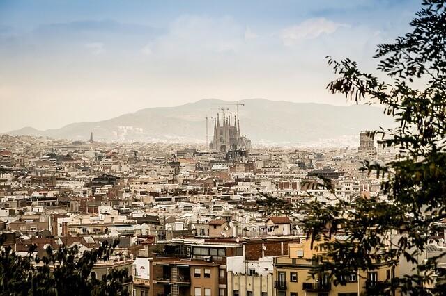 Barcelona panoráma