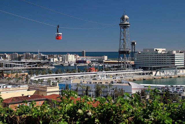 Montjuic libegő Barcelonában