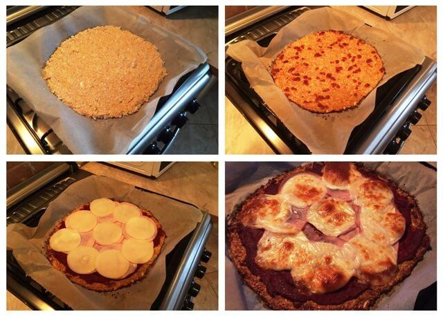 Diétás karfiol alapú pizza sütés