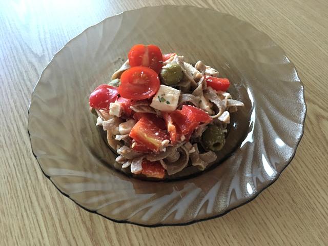 Görög tésztasaláta rozs tésztával