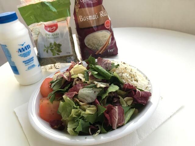 Basmati rizs saláta Görögországban