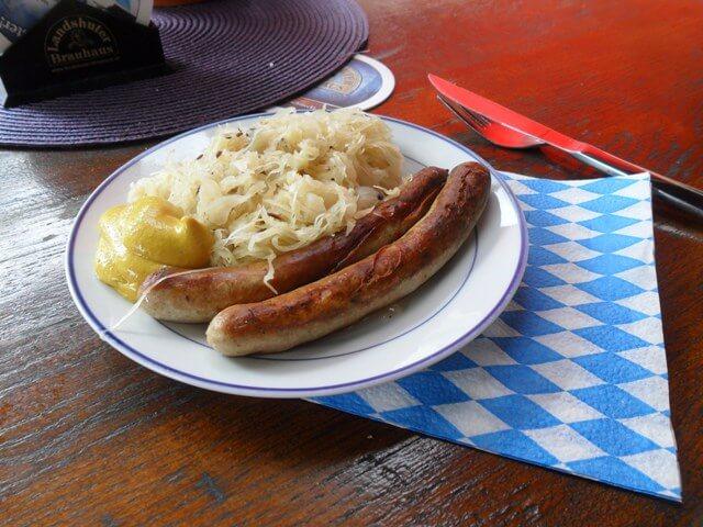 Weisswurst és sauerkraut-diétás konyha németországban