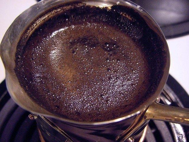 Görög kávé készítés