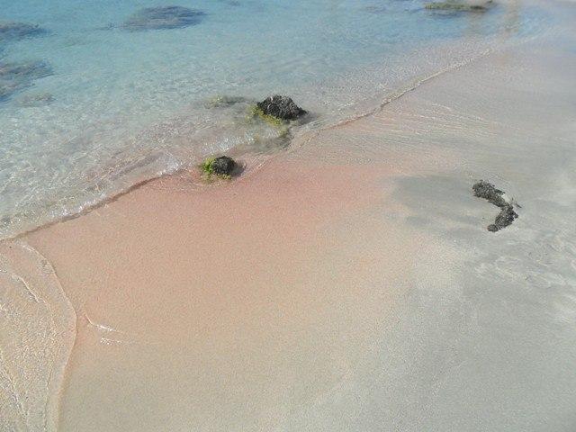 Elafonissi-Kréta-rózsaszín homok