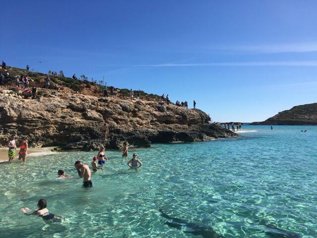 Málta Comino Blue Lagoon