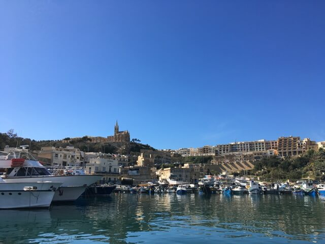 Málta Gozo kikötő