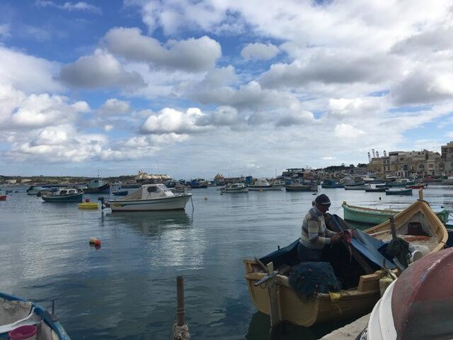 Málta Marsaxlokk halászat