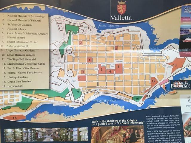 Málta Valletta térkép