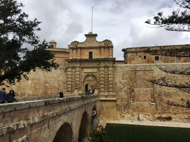 Mdina Málta látnivalók városkapu