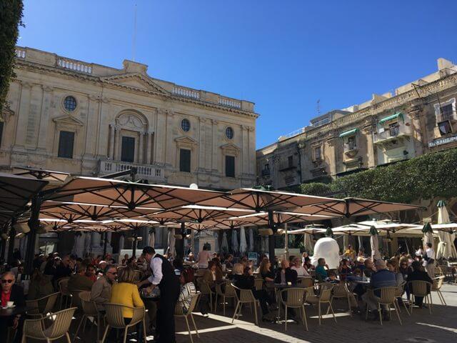Valletta kávézó - Málta