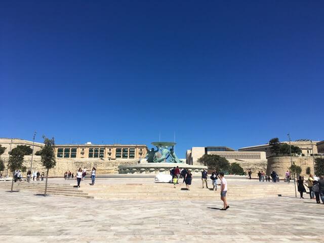 Valletta Trioton Szökőkút