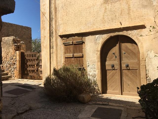 Spinalonga felújított épület