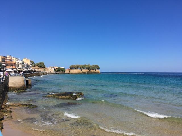Kréta Chania tengerpart