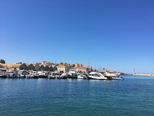Kréta Chania velencei kikötő