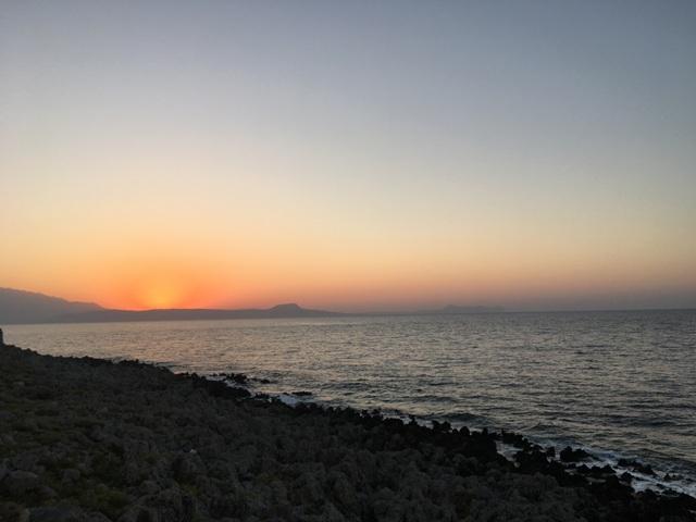 Kréta naplemente