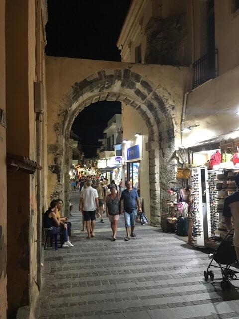 Rethymno óváros bejárat