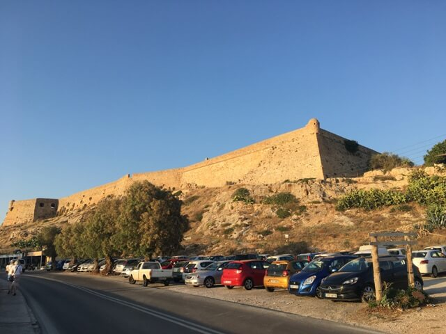 Rethymno velencei erőd parkoló