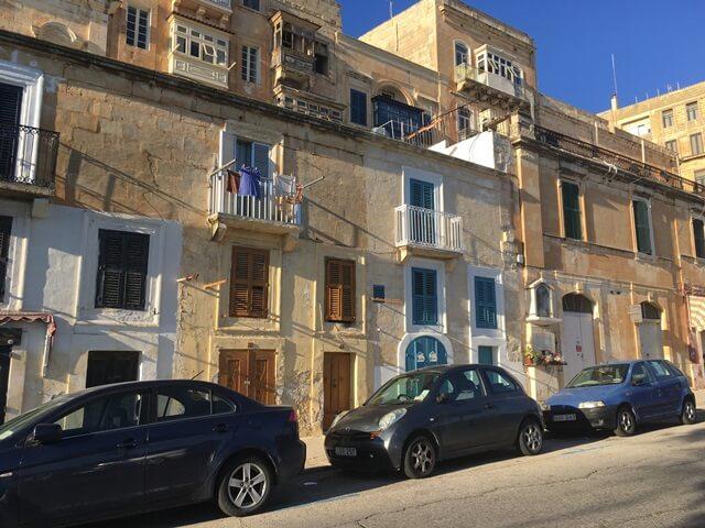 Málta Valletta házak