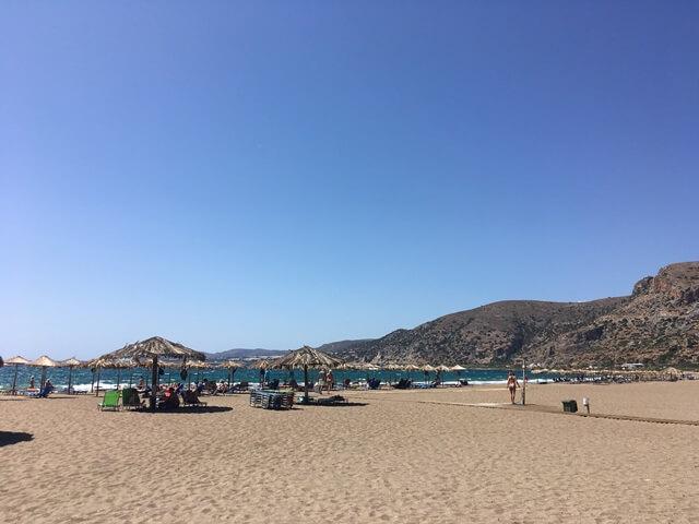 Homokos tengerpart Kréta