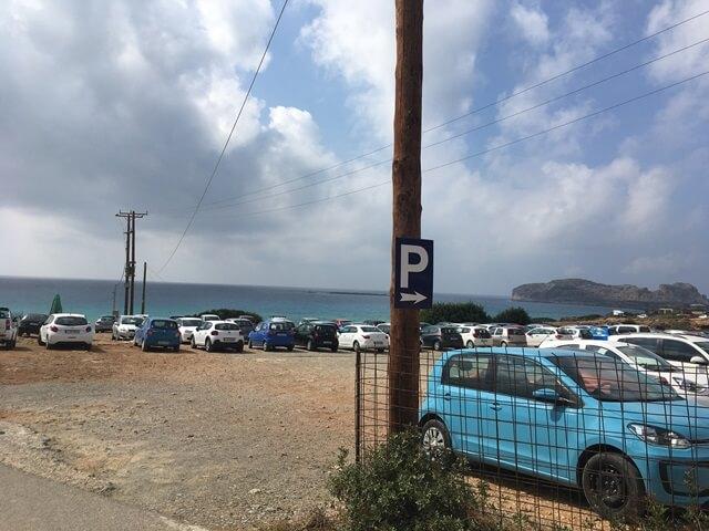 Falassarna parkoló