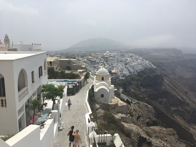 Fira Santorini séta