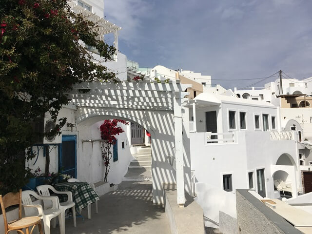 Helyi élet Santorini