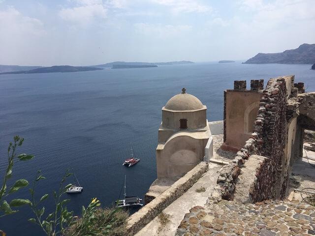 Oia Santorini vár