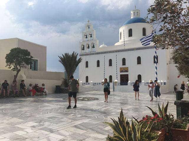 Panagia Platsani Templom Oia