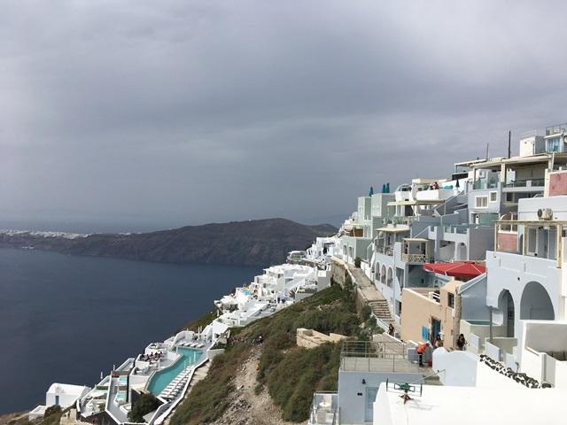 Santorini Imerovigli gyalog