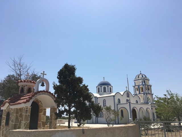 Santorini Kamari templom