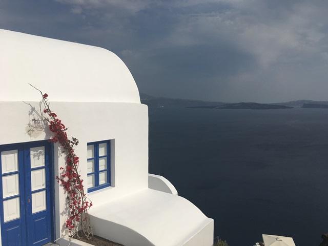 Santorini kék fehér