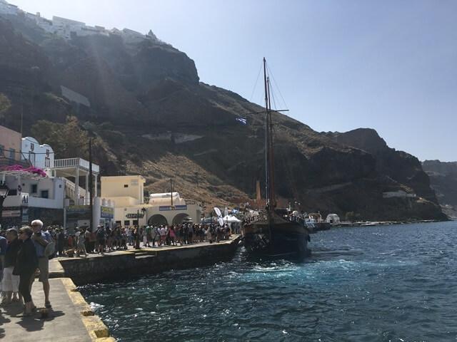 Santorini kikötő
