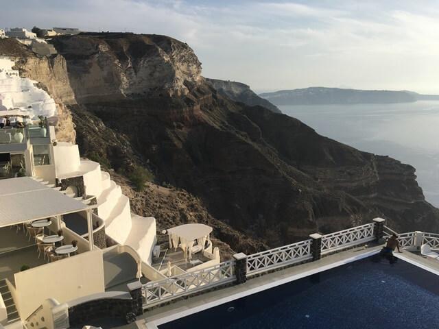 Santorini medencés szállás