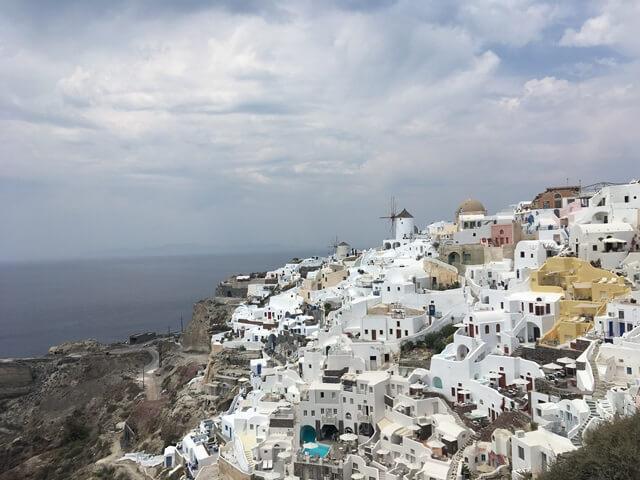 Santorini szélmalom Oia