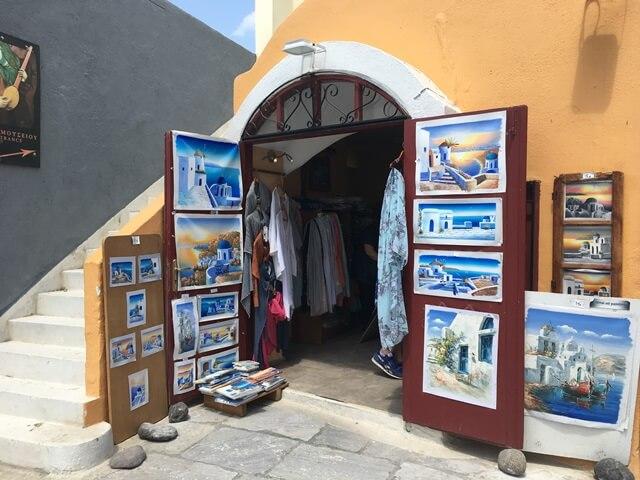 Santorini szuvenír