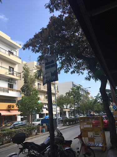 Heraklion buszmegálló