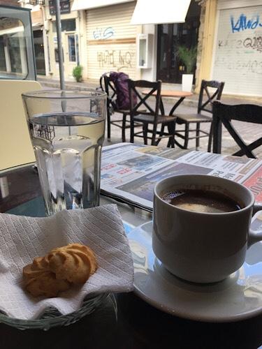 Görög kávé Rethymnoban