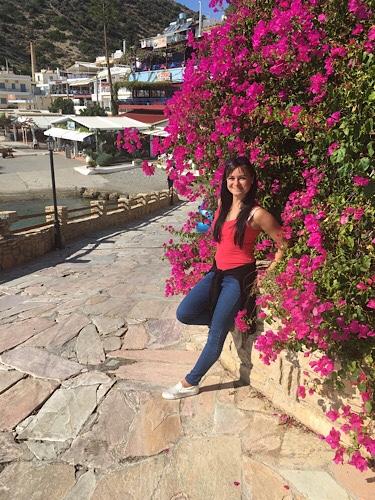 Agia Galini virágok