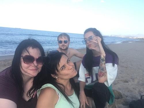 Rethymno strand barátokkal