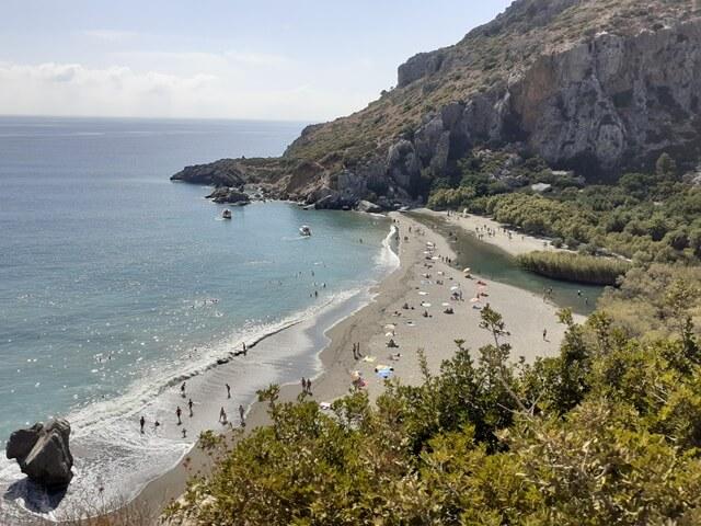 Preveli Kréta strand