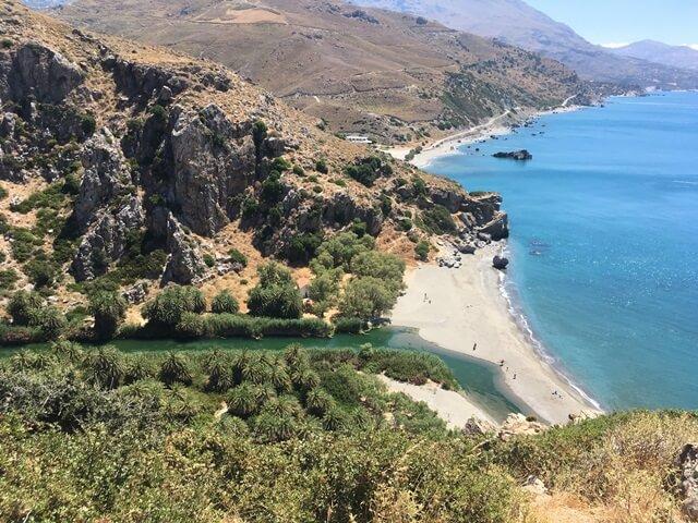 Preveli pálma strand Kréta