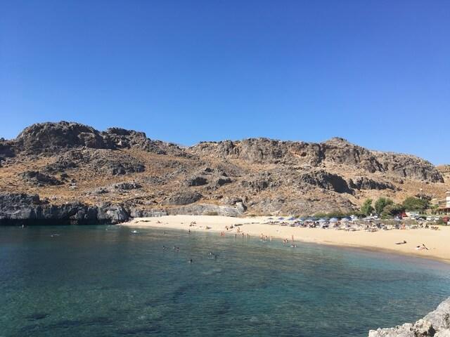 Strand Skinaria Dél Kréta