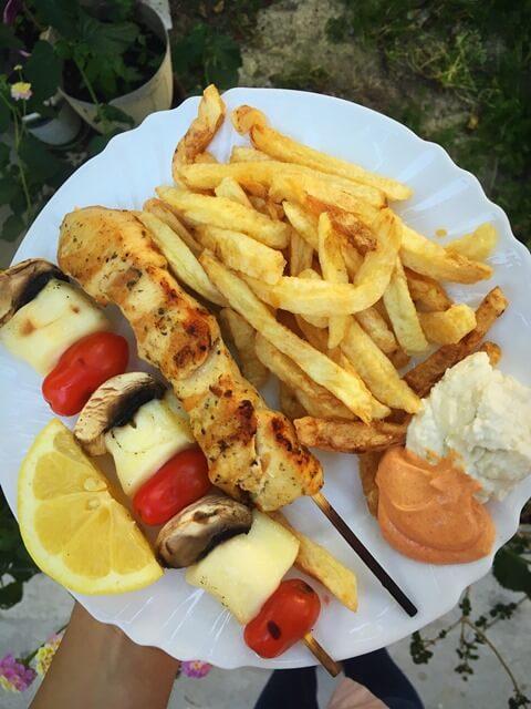 Souvlaki görög ételek